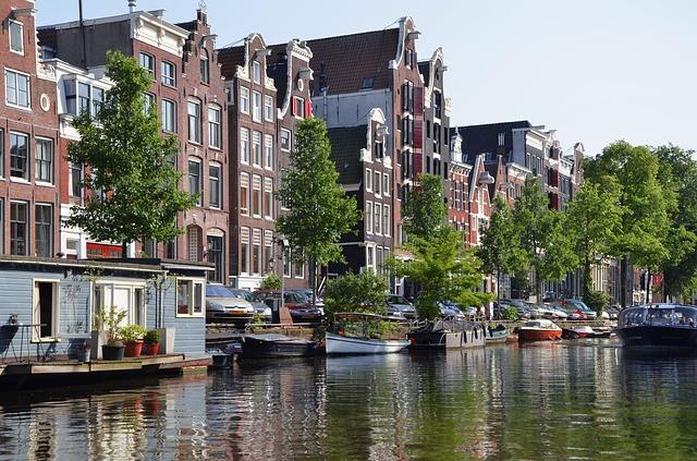 アムステルダムの町並み